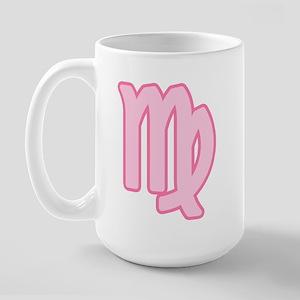 Pink Zodiac Virgo Large Mug