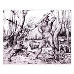 Medieval Bigfoot 16x20 Print