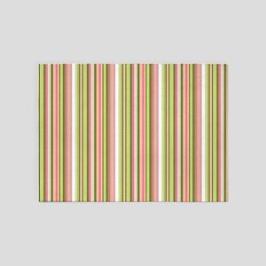 Spring Stripes 5'x7'Area Rug