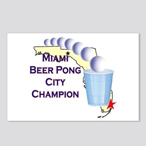 Miami Beer Pong City Champion Postcards (Package o