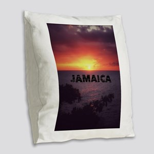 Jamaica Burlap Throw Pillow
