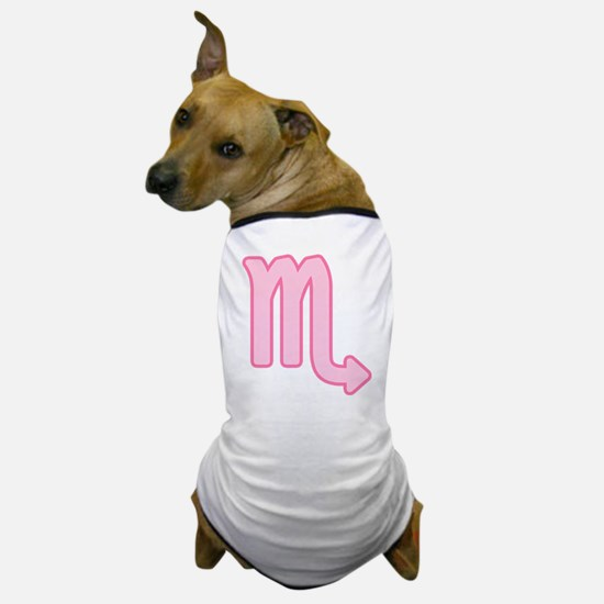Pink Zodiac Scorpio Dog T-Shirt