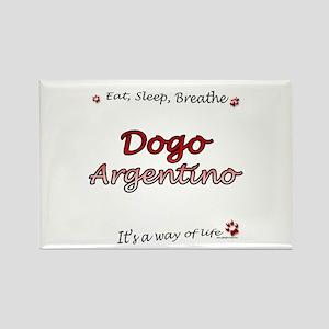 Dogo Breathe Rectangle Magnet