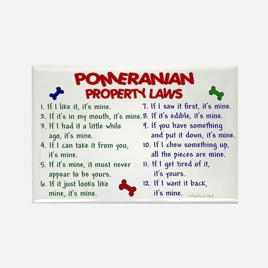Pomeranian Property Laws 2 Rectangle Magnet