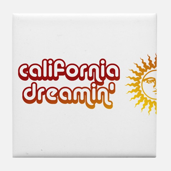 Unique Coachella california Tile Coaster