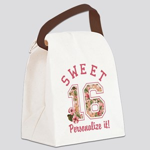 PERSONALIZED Sweet 16 Canvas Lunch Bag