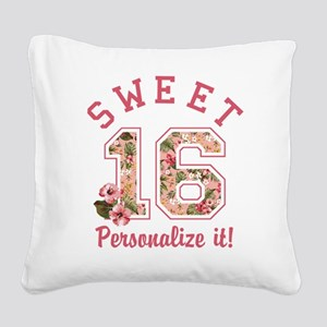 PERSONALIZED Sweet 16 Square Canvas Pillow