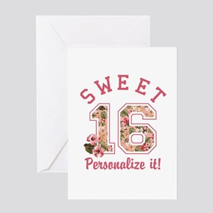 Sweet 16 greeting cards cafepress personalized sweet 16 greeting cards m4hsunfo