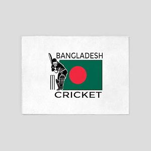 Bangladesh Cricket 5'x7'Area Rug
