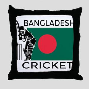 Bangladesh Cricket Throw Pillow
