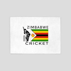 Zimbabwe Cricket 5'x7'Area Rug