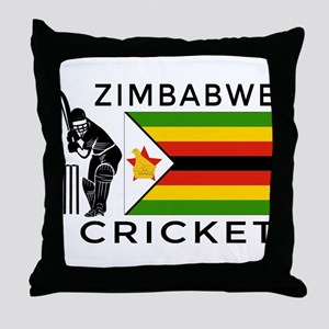 Zimbabwe Cricket Throw Pillow