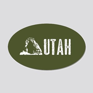 Utah: Delicate Arch 20x12 Oval Wall Decal