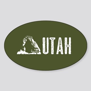 Utah: Delicate Arch Sticker (Oval)
