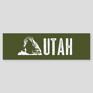 Utah: Delicate Arch Sticker (Bumper)