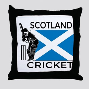 Scotland Cricket Throw Pillow