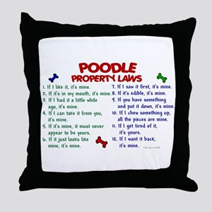 Poodle Property Laws 2 Throw Pillow