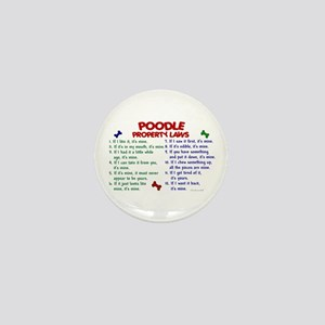 Poodle Property Laws 2 Mini Button