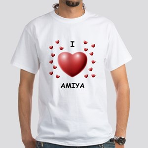 I Love Amiya - White T-Shirt