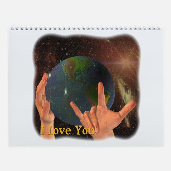 "ASL ""I Love You"" Wall Calendar"