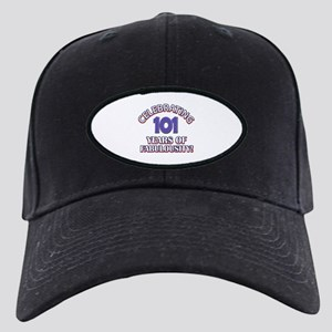 Fabulous At 101 Birthday Designs Black Cap