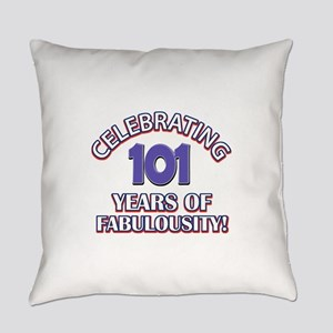 Fabulous At 101 Birthday Designs Everyday Pillow