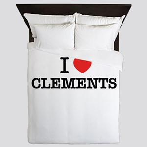 I Love CLEMENTS Queen Duvet