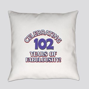 Fabulous At 102 Birthday Designs Everyday Pillow