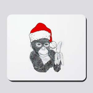 MONKEY DRESSED FOR CHRISTMAS Mousepad