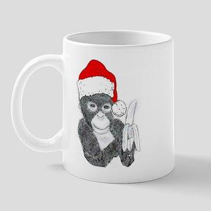 MONKEY DRESSED FOR CHRISTMAS Mug