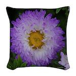Multi Color Matsumoto Flower Woven Throw Pillow