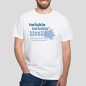 Twinkle Twinkle Blue White T-Shirt
