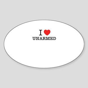 I Love UNARMED Sticker