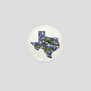 TX Bluebonnets Mini Button