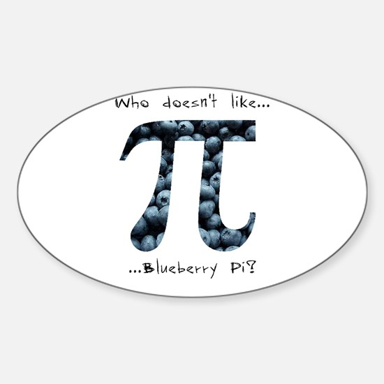 Blueberry Pi Oval Decal
