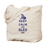 Keep Calm and Sled On Tote Bag