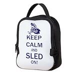 Keep Calm and Sled On Neoprene Lunch Bag