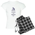 Keep Calm and Sled On Women's Light Pajamas