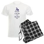 Keep Calm and Sled On Men's Light Pajamas