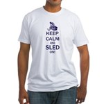 Keep Calm and Sled On Fitted T-Shirt