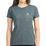Keep Calm And Sled On Women's Dark T-Shirt
