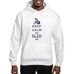 Keep Calm and Sled On Hooded Sweatshirt