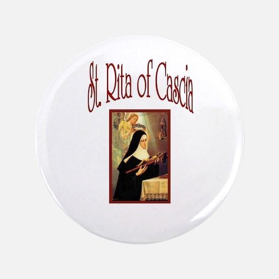 "St. Rita of Casica 3.5"" Button"