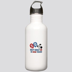 Funny 50 Years Old Bir Stainless Water Bottle 1.0L