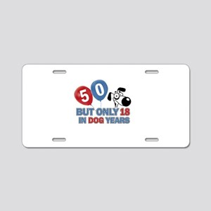 Funny 50 Years Old Birthday Aluminum License Plate