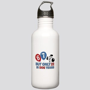 Funny 67 Years Old Bir Stainless Water Bottle 1.0L