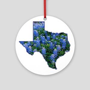 TX Bluebonnets Ornament (Round)