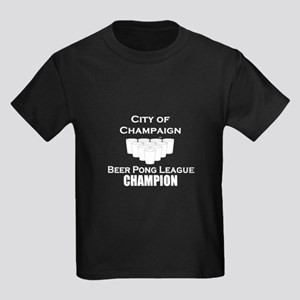 City of Champaign Beer Pong L Kids Dark T-Shirt