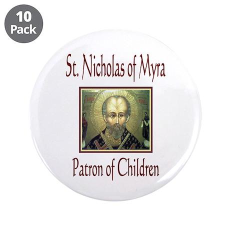 "St. Nicholas of Myra 3.5"" Button (10 pack)"