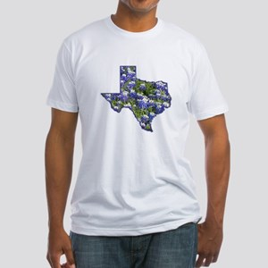 TX Bluebonnets Fitted T-Shirt